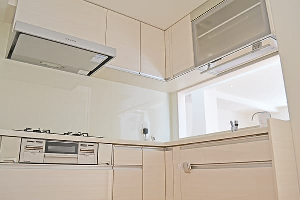 L型キッチン施工例の写真