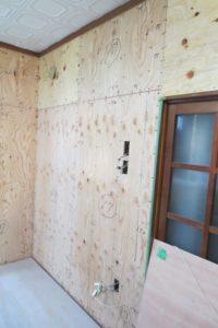 住宅の耐震化リフォーム施工後の白アリ対策写真